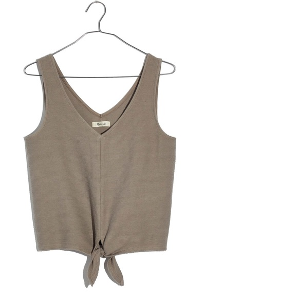 3d1ad42b109 NWT Texture   Thread Tie-Front Tank Top